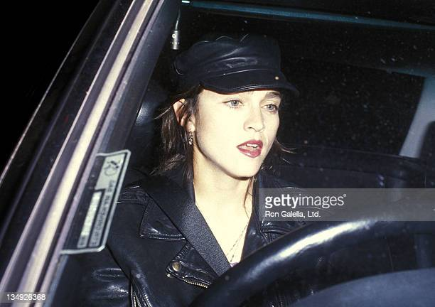 Actress Madonna attends the play performance of Hurlyburly on December 6 1988 at the Westwood Playhouse in Westwood California
