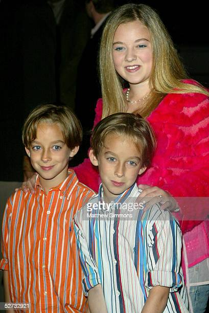 Actress Madylin Sweeten and her two brother actors Sullivan Sweeten and Sawyer Sweeten attend the Everybody Loves Raymond Series Wrap Party at Hanger...