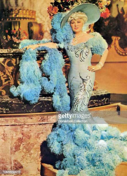 "Actress Mae West in a scene from the movie ""Belle of the Nineties"""