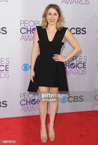 Actress Mae Whitman arrives at the 2013 People's Choice Awards at Nokia Theatre LA Live on January 9 2013 in Los Angeles California