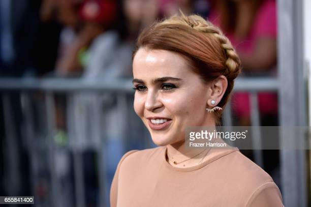 """Actress Mae Whitman arrives at the Premiere Of Warner Bros. Pictures' """"CHiPS"""" at TCL Chinese Theatre on March 20, 2017 in Hollywood, California."""