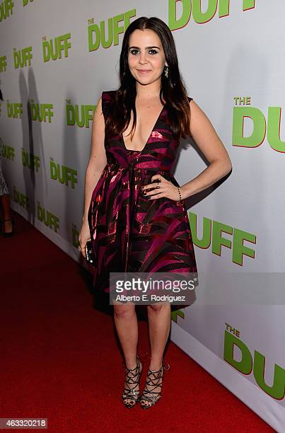 Actress Mae Whitman attends a Fan Screening of CBS Films' 'The Duff' at the TCL Chinese 6 Theatres on February 12 2015 in Hollywood California