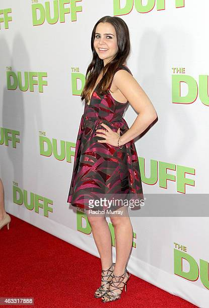 Actress Mae Whitman attends a special Los Angeles fan screening of THE DUFF on February 12 2015 in Los Angeles California