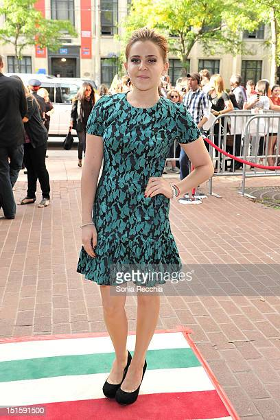 Actress Mae Whitman attends The Perks Of Being A Wallflower premiere during the 2012 Toronto International Film Festival at Ryerson Theatre on...