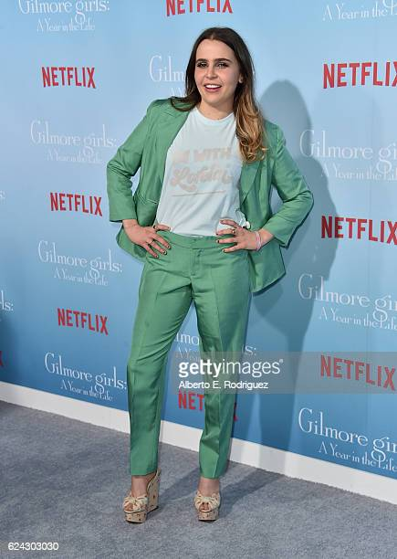 Actress Mae Whitman attends the premiere of Netflix's Gilmore Girls A Year In The Life at the Regency Bruin Theatre on November 18 2016 in Los...