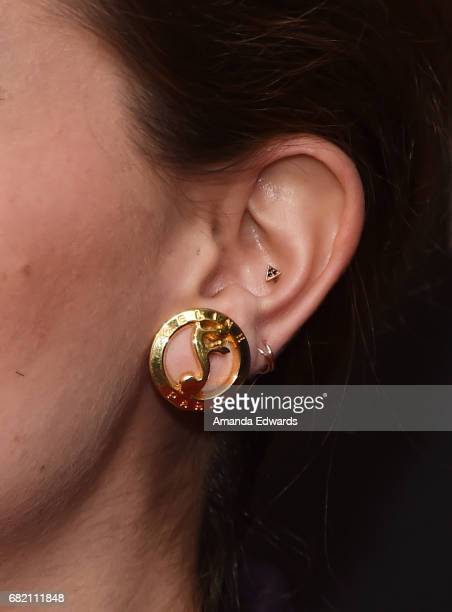 Actress Mae Whitman earring detail arrives at the Netflix 'Gilmore Girls A Year In The Life' For Your Consideration Event at the Netflix FYSee Space...