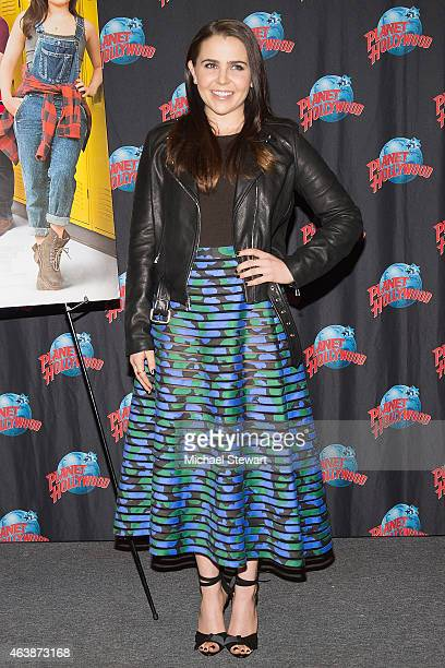 Actress Mae Whitman visits Planet Hollywood Times Square on February 19 2015 in New York City
