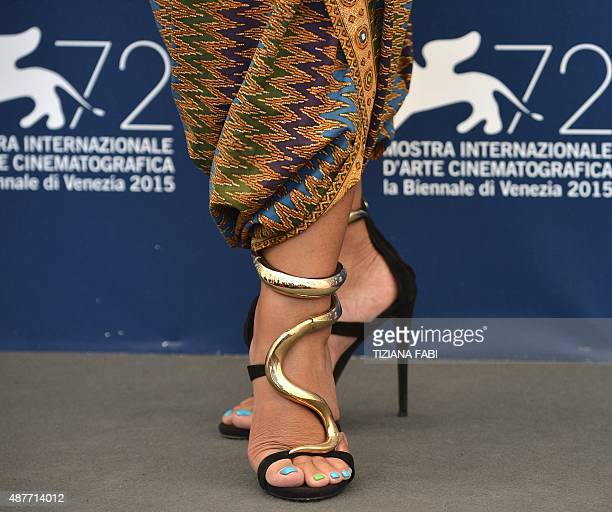 Actress Maera Panigoro poses during the photocall of the movie 'A Copy of my Mind' presented in the Orizzonti selection at the 72nd Venice...