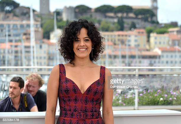 Actress Maeve Jinkings attends the Aquarius photocall during the 69th Annual Cannes Film Festival at the Palais des Festivals on May 18 2016 in...