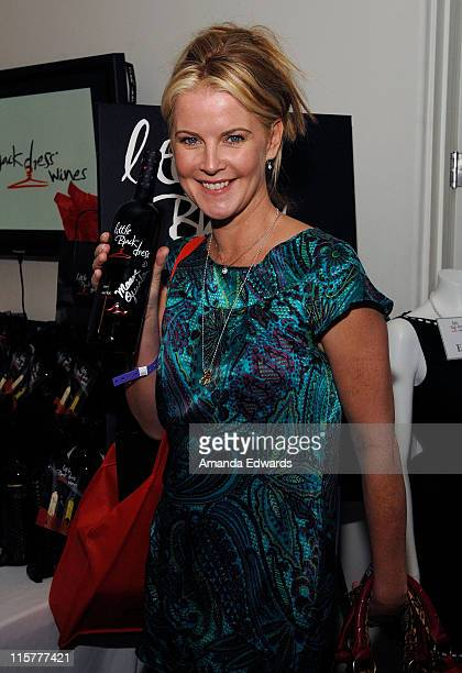 Actress Maeve Quinlan poses at Little Black Dress Wines at Kari Feinstein Golden Globes Style Lounge held at Zune LA on January 9, 2009 in Los...