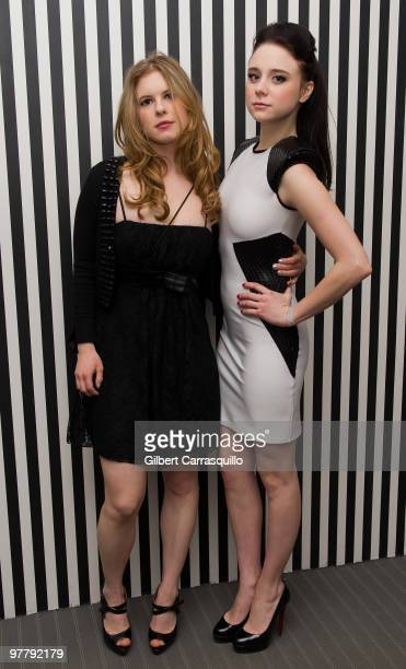 Actress Magda Apanowicz and actress Alessandra Torresani attend the SYFY 2010 Upfront Party at The Museum of Modern Art on March 16 2010 in New York...