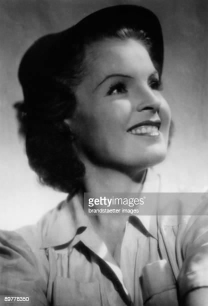 Actress Magda Schneider. Photograph around 1935