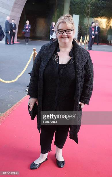 Actress Magda Szubanski arrives at the opening night of The Fashion World of Jean Paul Gaultier at National Gallery of Victoria on October 16 2014 in...