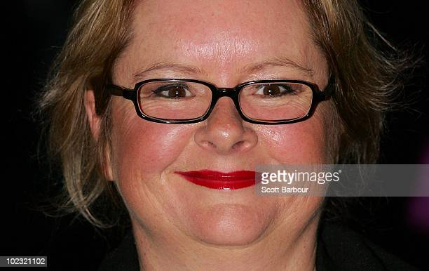Actress Magda Szubanski arrives for the opening night of 'Tim Burton The Exhibition' at the Australian Centre for the Moving Image on June 23 2010 in...