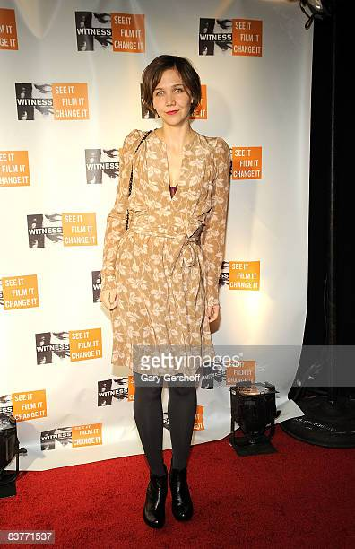 Actress Magggie Gyllenhaal attends the 4th Annual Focus for Change at Roseland Ballroom on November 20 2008 in New York City