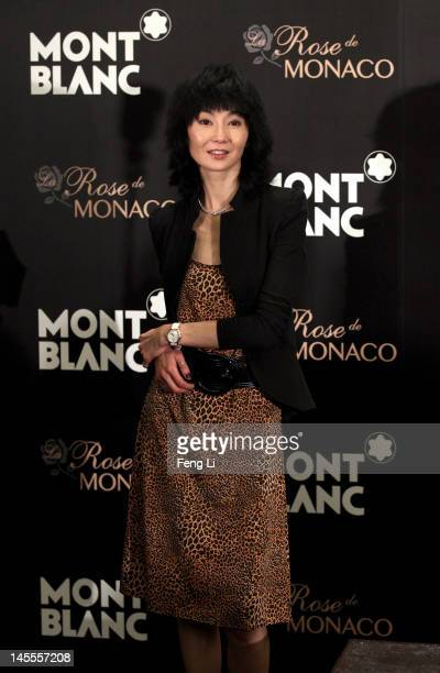 Actress Maggie Cheung poses during interviews for the official opening of the Montblanc Sanlitun Concept Store held at the JW Marriott Hotel Beijing...