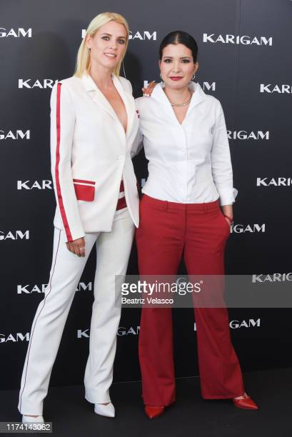 Actress Maggie Civantos and founder Karina Gamez during the presentation of new brand Karigam on September 12 2019 in Madrid Spain
