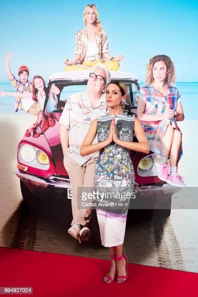 Actress Maggie Civantos attends 'El Mejor Verano De Mi Vida' premiere at the Capitol cinema on July 9, 2018 in Madrid, Spain.