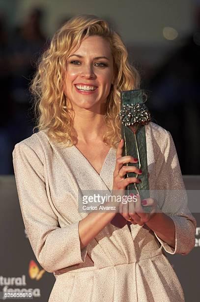 Actress Maggie Civantos attends La Ultima Piel premiere at the Cervantes Teather during the 19th Malaga Film Festival on April 28 2016 in Malaga Spain