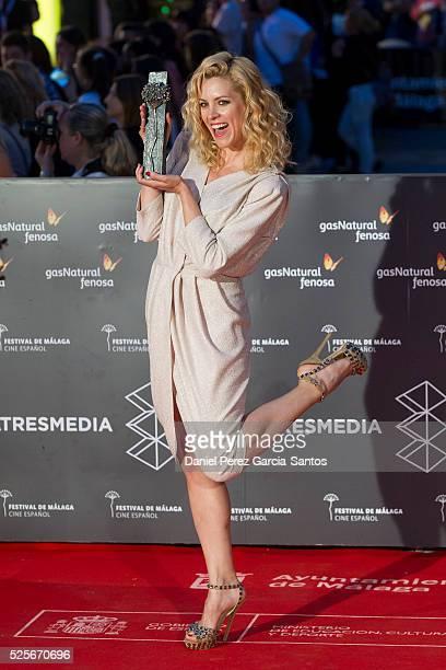 Actress Maggie Civantos attends 'La Ultima Piel' premiere at the Cervantes Teather during the 19th Malaga Film Festival on April 28 2016 in Malaga...