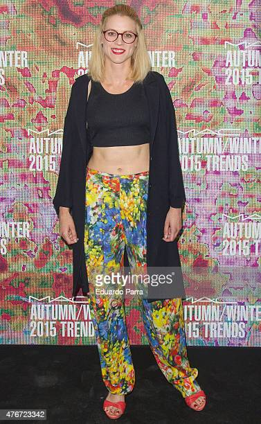 Actress Maggie Civantos attends MAC new trends party photocall at the Association of Architects on June 11 2015 in Madrid Spain