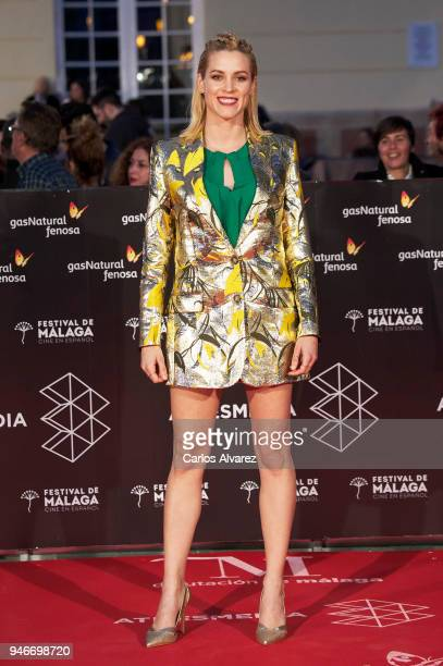 Actress Maggie Civantos attends 'No Dormiras' premiere at the Cervantes Theater on April 15 2018 in Malaga Spain