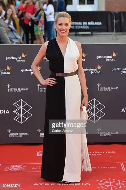 Actress Maggie Civantos attends Nuestros Amantes premiere at the Cervantes Teather during the 19th Malaga Film Festival on April 30 2016 in Malaga...