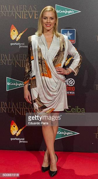 Actress Maggie Civantos attends 'Palmeras en la nieve' premiere at Kinepolis cinema on December 9 2015 in Madrid Spain