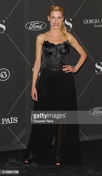 Actress Maggie Civantos attends 'S Moda' magazine party photocall at Real Academa de Bellas Artes de San Fernando on February 17 2016 in Madrid Spain