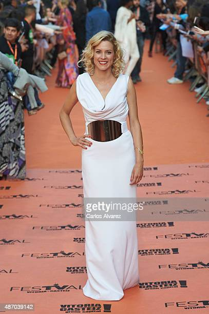 Actress Maggie Civantos attends the 7th FesTVal Television Festival 2015 the closing ceremony at the Principal Theater on September 5, 2015 in...