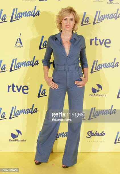 Actress Maggie Civantos attends the 'La Llamada' premiere at Capitol cinema on September 26 2017 in Madrid Spain