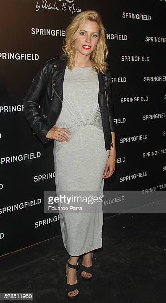 Actress Maggie Civantos attends the Springfield fashion film presentation photocall at Fortuny palace on May 05, 2016 in Madrid, Spain.