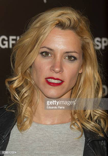 Actress Maggie Civantos attends the Springfield fashion film presentation photocall at Fortuny palace on May 05 2016 in Madrid Spain