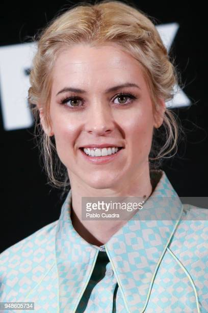 Actress Maggie Civantos attends the 'Vis A Vis' photocall at VP Plaza de Espana Hotel on April 19 2018 in Madrid Spain