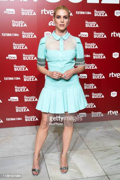 """Actress Maggie Civantos attends to """"La Pequena Suiza"""" premiere at Capitol Cinema on April 24, 2019 in Madrid, Spain."""