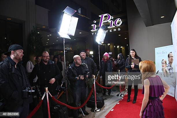 """Actress Maggie Elizabeth arrives at Hallmark Hall Of Fame's """"Away & Back"""" Exclusive Premiere Event at iPic Theaters on January 20, 2015 in Los..."""