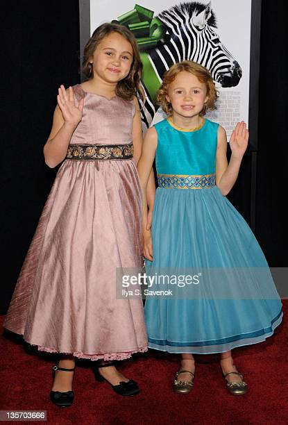 Actress Maggie Elizabeth Jones and her sister attend the We Bought a Zoo premiere at Ziegfeld Theater on December 12 2011 in New York City