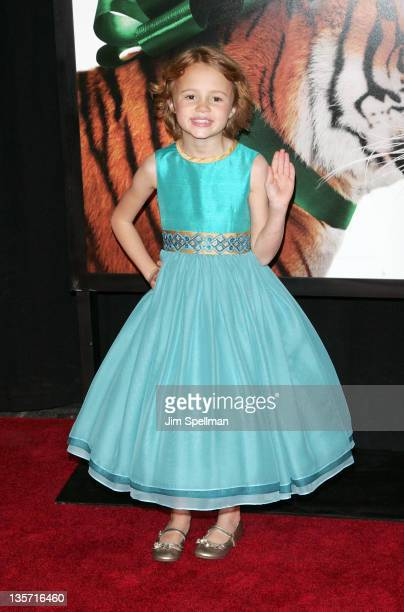 Actress Maggie Elizabeth Jones attends the We Bought a Zoo premiere at Ziegfeld Theater on December 12 2011 in New York City