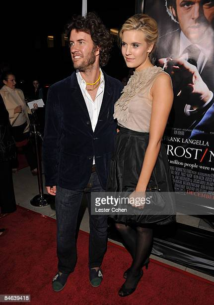 Actress Maggie Grace and Blake Mycoski arrive at the Los Angeles premiere of Frost/Nixon held at the Academy of Motion Picture Arts and Science on...