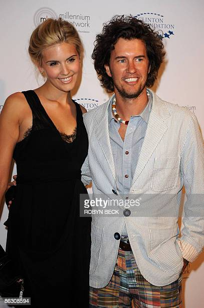 US actress Maggie Grace and boyfriend Blake Mycoskie arrive for the William J Clinton Foundation Millennium Network Event hosted by former US...