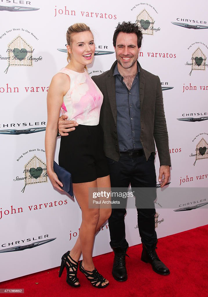 Actress Maggie Grace and director Matthew Cooke attend the 12th Annual John Varvatos Stuart House Benefit at John Varvatos on April 26, 2015 in Los Angeles, California.
