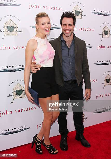Actress Maggie Grace and director Matthew Cooke attend the 12th Annual John Varvatos Stuart House Benefit at John Varvatos on April 26 2015 in Los...
