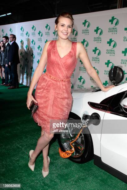 Actress Maggie Grace arrives at Global Green USA's 9th Annual PreOscar Party Supporting Green Schools and Green Communities at Avalon on February 22...