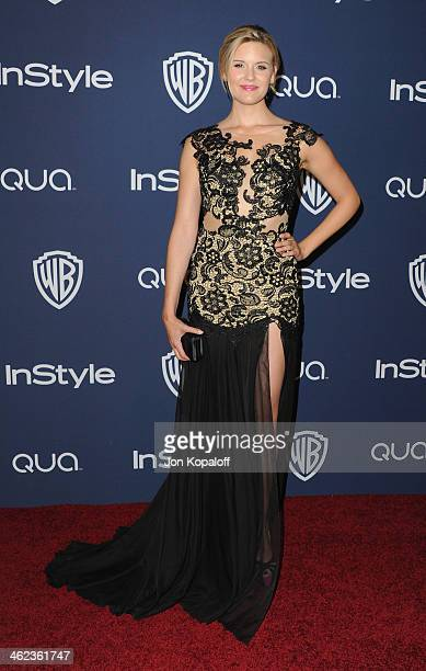 Actress Maggie Grace arrives at the 2014 InStyle And Warner Bros 71st Annual Golden Globe Awards PostParty on January 12 2014 in Beverly Hills...