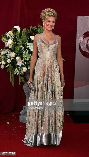 Actress Maggie Grace arrives at the 57th Annual Emmy Awards held at the Shrine Auditorium on September 18 2005 in Los Angeles California
