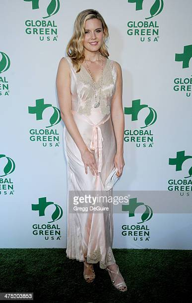 Actress Maggie Grace arrives at the Global Green USA's 11th Annual PreOscar Party at Avalon on February 26 2014 in Hollywood California