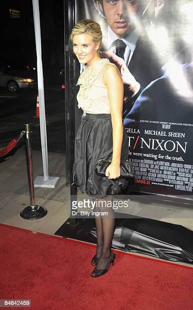 Actress Maggie Grace arrives at the Los Angeles premiere of Frost/Nixon on November 24 2008 in Los Angeles California