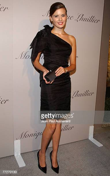 Actress Maggie Grace arrives at the Monique Lhuillier new Melrose Place Boutique on October 10th, 2007 in Los Angeles, California.