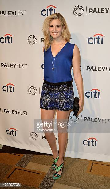 """Actress Maggie Grace arrives at The Paley Center Media's PaleyFest 2014 Honoring """"Lost"""" 10th Anniversary Reunion at the Dolby Theatre on March 16,..."""