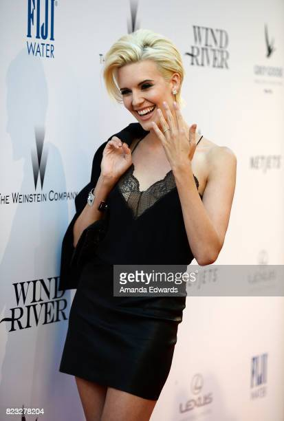 Actress Maggie Grace arrives at the premiere of The Weinstein Company's 'Wind River' at The Theatre at Ace Hotel on July 26 2017 in Los Angeles...